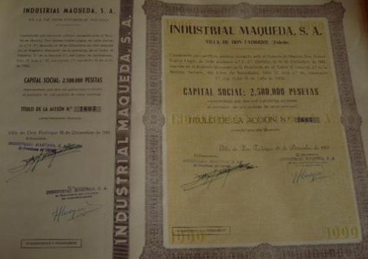 ACCIONES INDUSTRIAL MAQUEDA COLECCIÓN