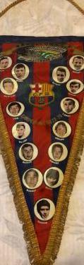 Banderin campeon liga 1973-74. fc barcelona
