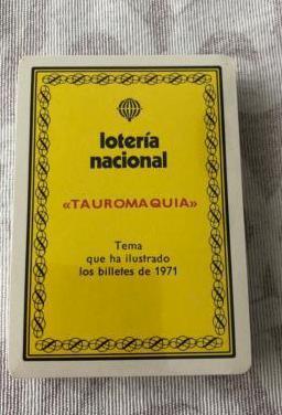 Baraja de cartas loteria nacional 1971