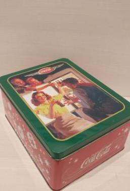 Caja lata coca-cola vintage
