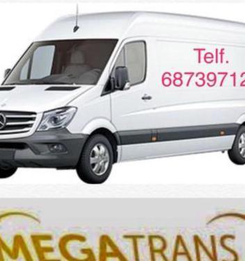 Furgoneta para mudanzas y transportes