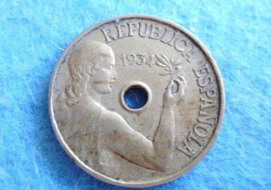 Ii republica, 25 centimos 1934