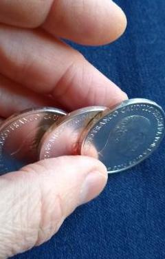 Monedas, franco 1966, * 66, *67 y *68.