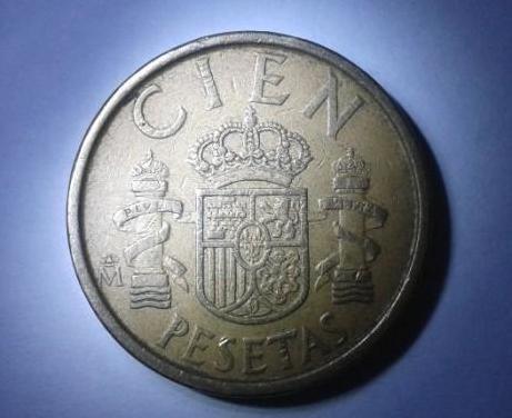 Moneda: 100 pesetas de 1986