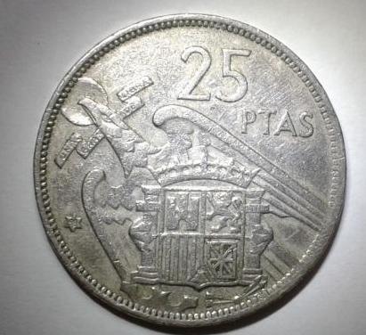 Moneda: 25 ptas 1957 *(19-58)