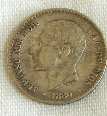 Moneda 50 centimos alfonso xii 1880