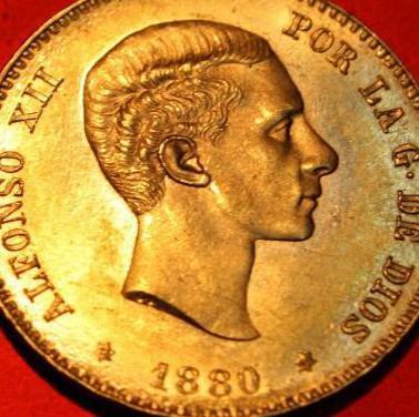 Preciosa moneda de 25 ptas oro autentica