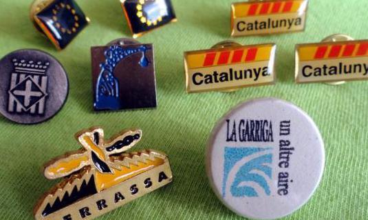 Pins comunidad europea, catalunya, barcelona