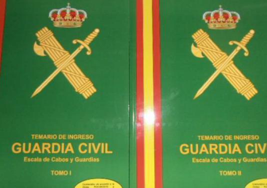 Temario y material guardia civil
