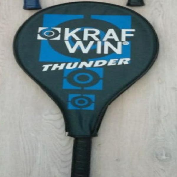 3 raquetas. krafwin thunder con funda.