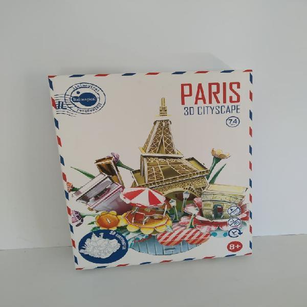 3d puzzle completo paris abstracto reyes juego de