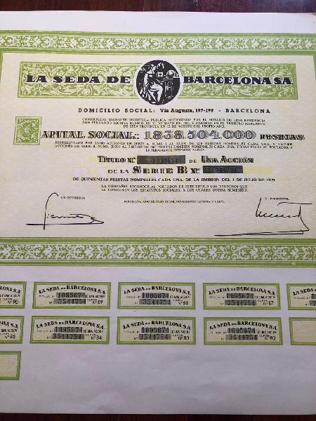Acción antigua la seda de barcelona