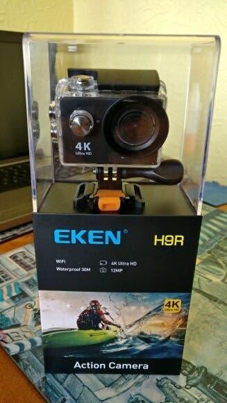 Camara eken h9r,wifi, 4k, mando a distancia, arnes