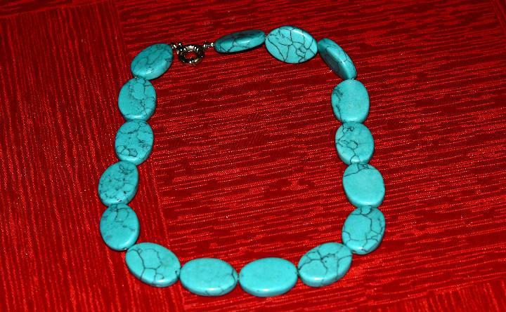Collar bisutería vintage cuentas azules (#145)