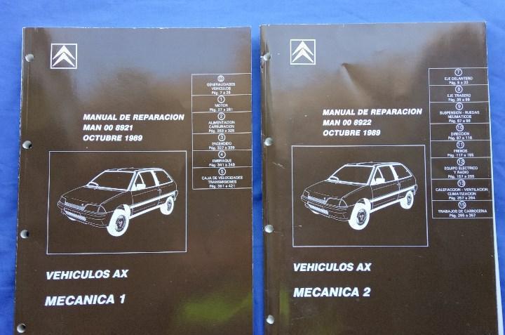 Citroën ax. manual de reparación 8921 y 8922. mecánica 1