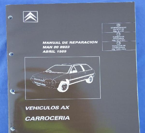 Citroën ax. manual de reparación 8923. carrocería. abril