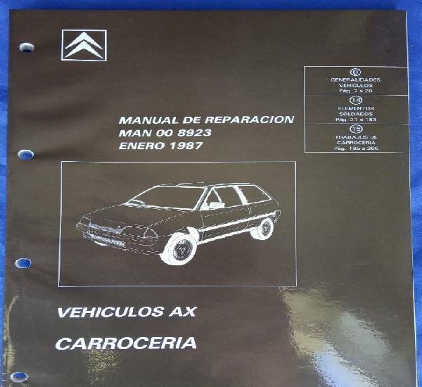 Citroën ax. manual de reparación 8923. carrocería. enero