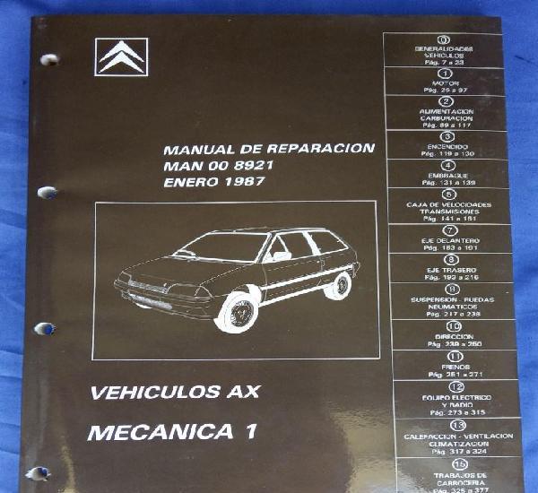 Citroën AX. Manual de reparación 8921. Mecánica 1. Enero