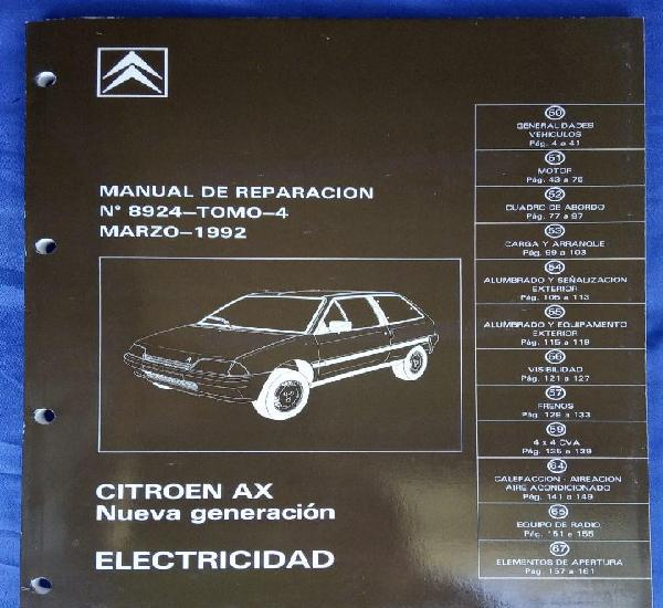 Citroën ax nueva generación. manual de reparación 8924,