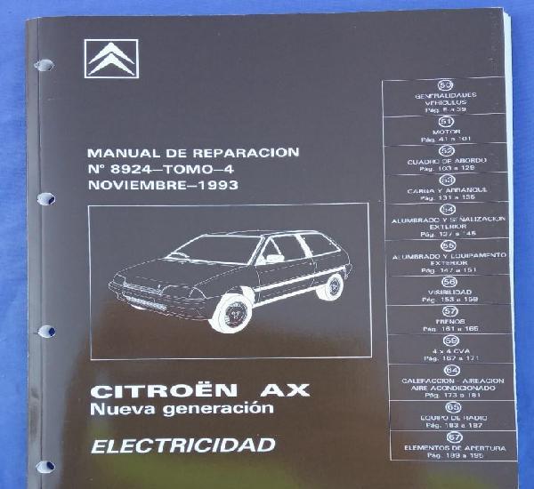 Citroën AX Nueva Generación. Manual de Reparación 8924.