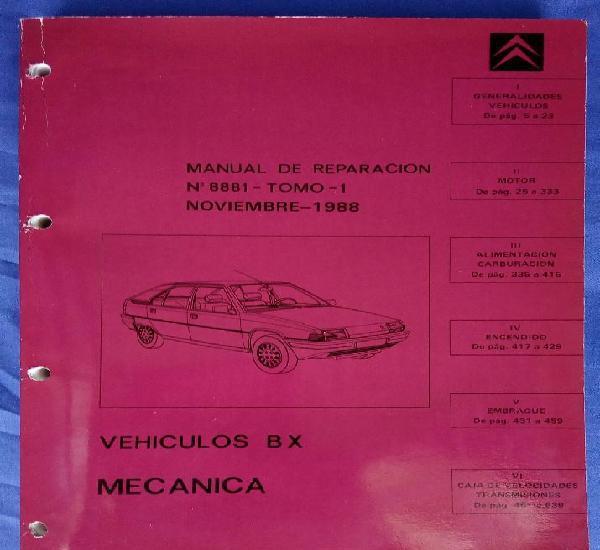 Citroën bx. manual de reparación 8881, tomo 1. mecánica.