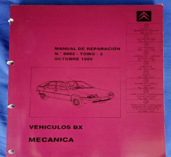 Citroën bx. manual de reparación 8882, tomo 2. mecánica.
