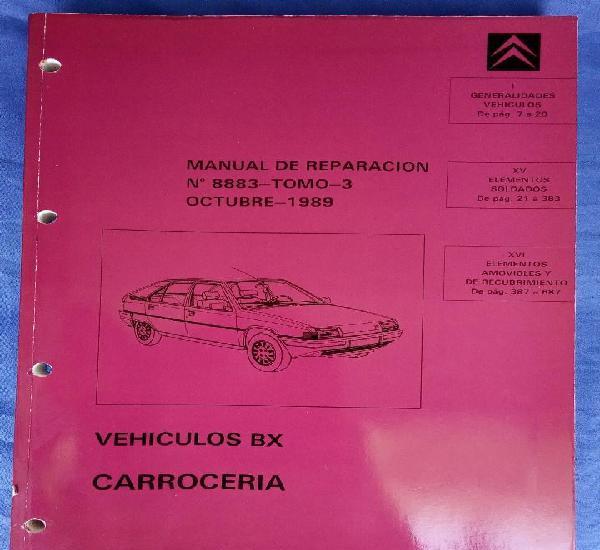 Citroën bx. manual de reparación 8883, tomo 3.
