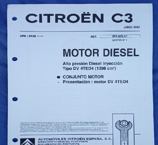 Citroën c3. motor diesel. presentación del motor dv 4ted4.