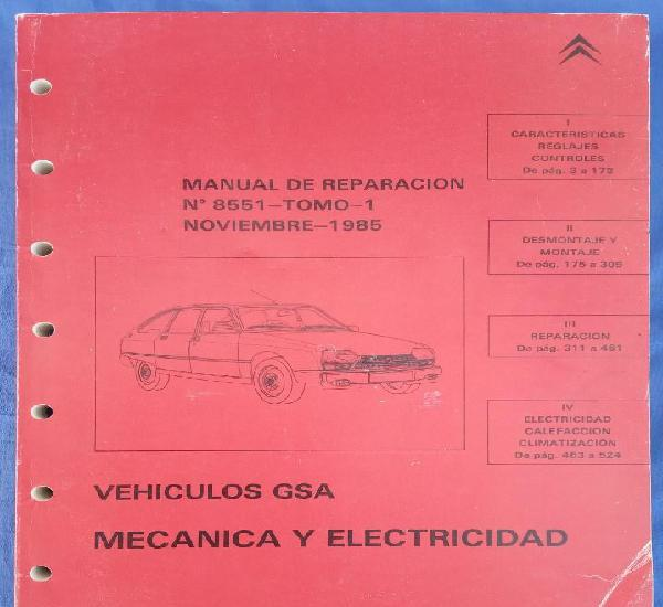 Citroën: vehículos gsa. manual de reparación 8551, tomo