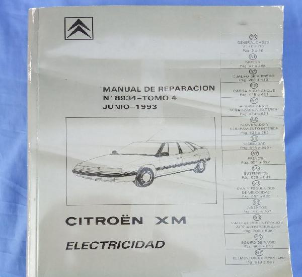 Citroën xm. manual de reparación 8934, tomo 4.