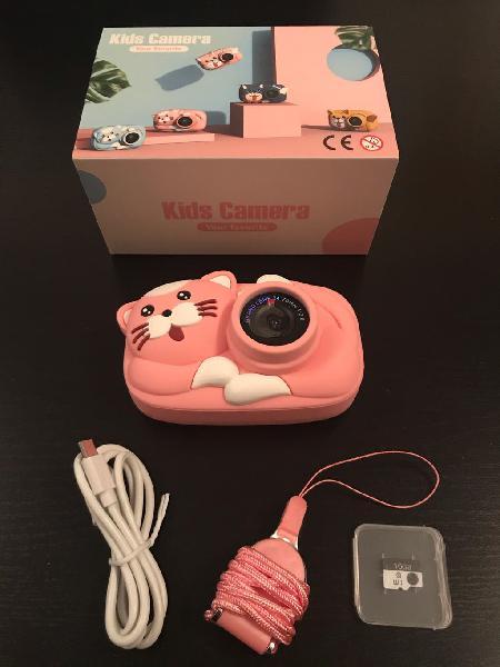 Cámara de fotos digital para niños y tarjeta 16gb