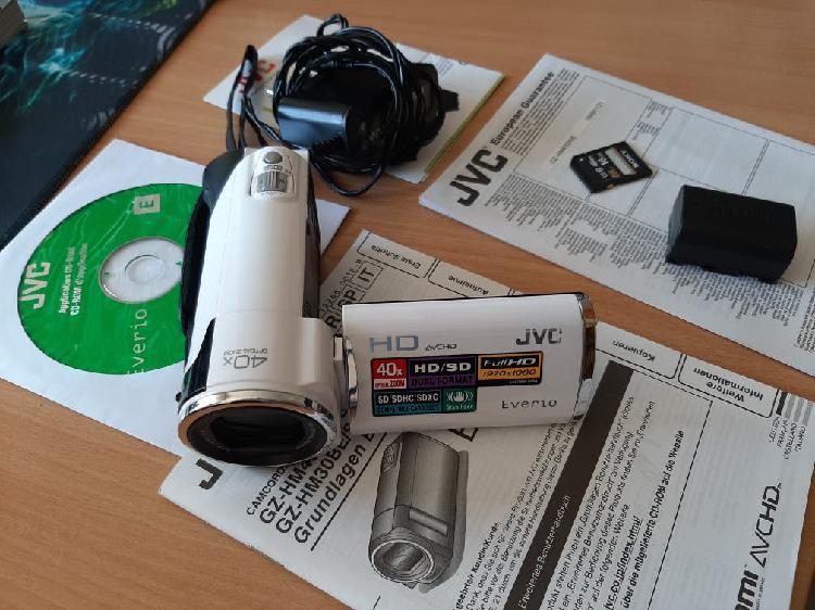 Cámara video jvc 1080 fullhd zoom óptico 40x