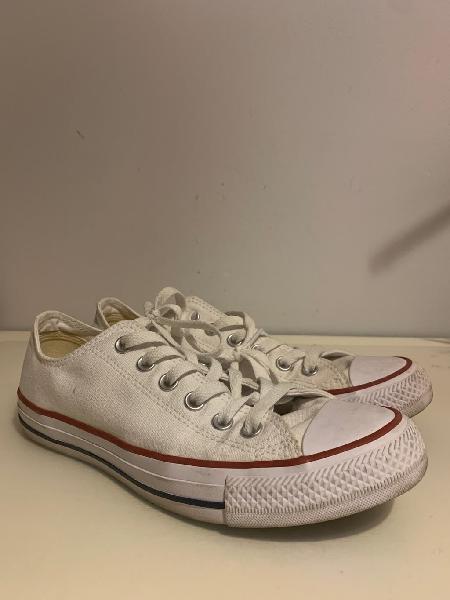 Converse all star bota baja blancas