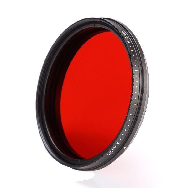 Filtro infrarrojo 72mm ir ajustable entre 530mn a