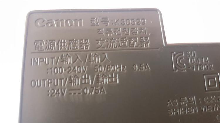 Fuente canon 24v 0.75a dc