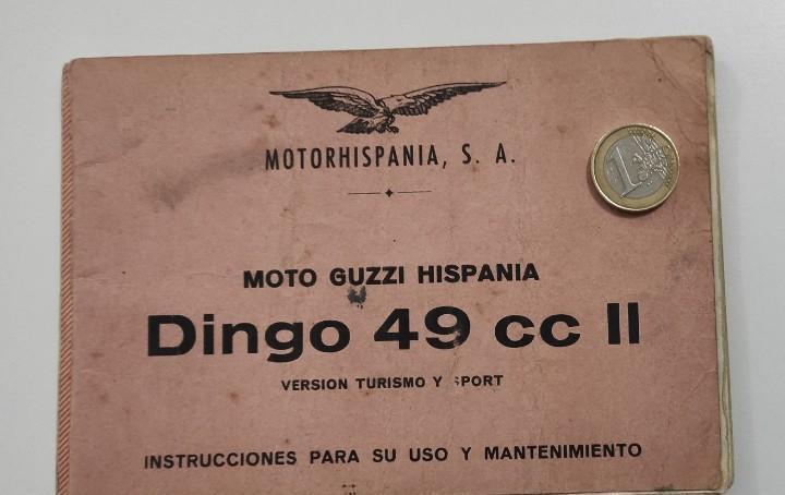 Instrucciones uso mantenimiento guzzi dingo 49