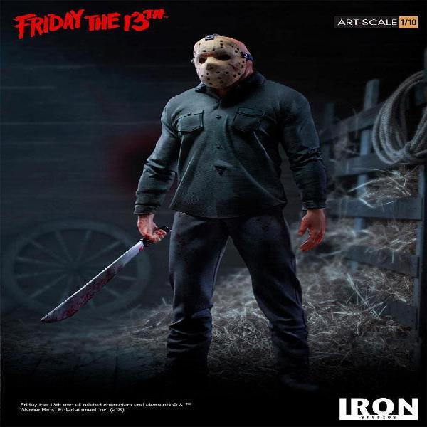 Jason viernes 13 estatua 1/10 iron studios