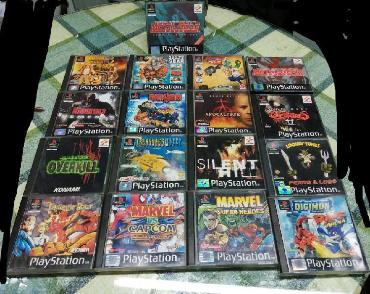Lote pack juegos playstation 1 pal españa ps1 psx