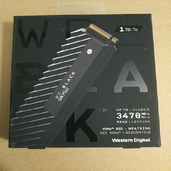 M2 western digital sn750 1tb con disipador