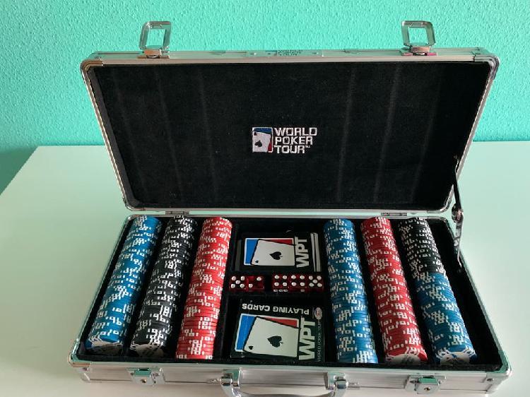 Maletin wpt world poker tour de 300 fichas