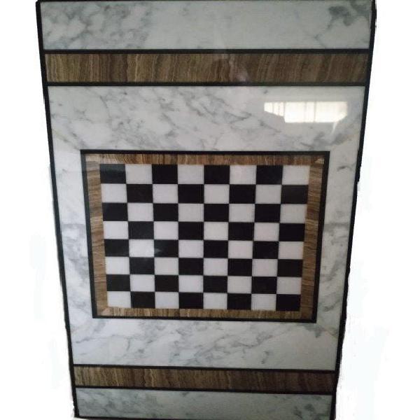 Mesa centro mármol ajedrez