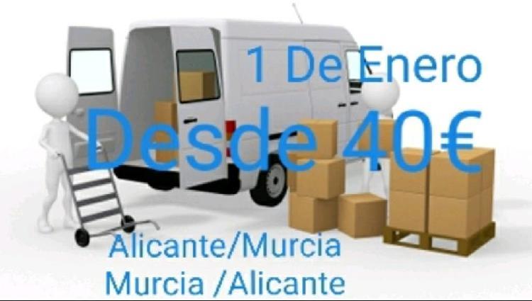 Murcia/alicante y viceversa desde 40€