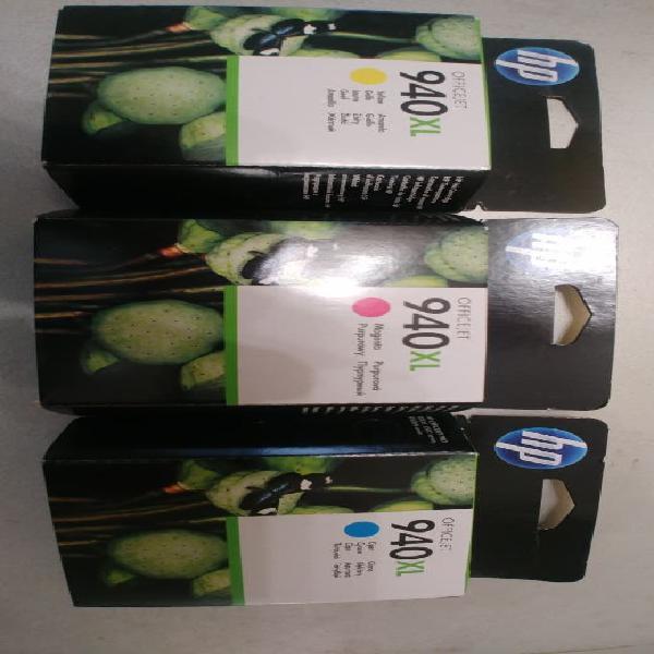 Pack de 3 cartuchos tinta hp 940 xl precintados
