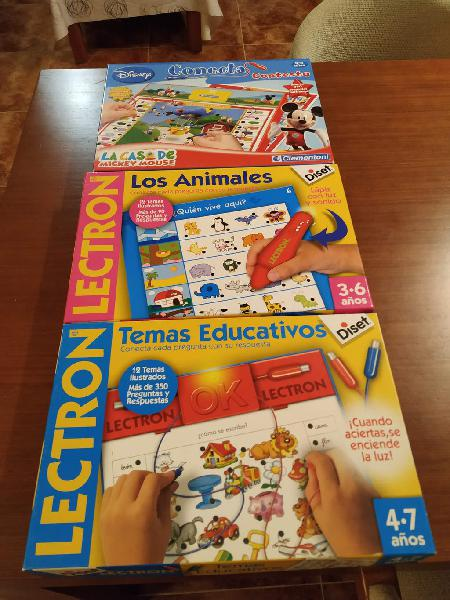 Pack juegos educativos lectron