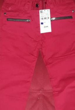 Pantalon rojo niña