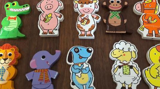 Piezas magnéticas animales puzzles