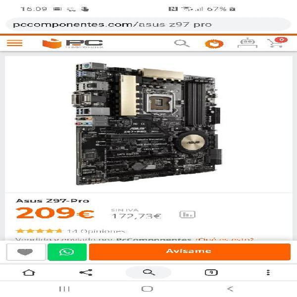 Placa base asus z97 pro (cpu+mb+ram)