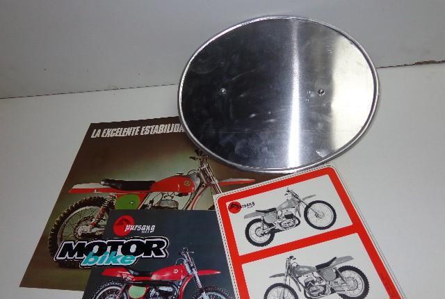 Porta numeros de bultaco pursang de aluminio