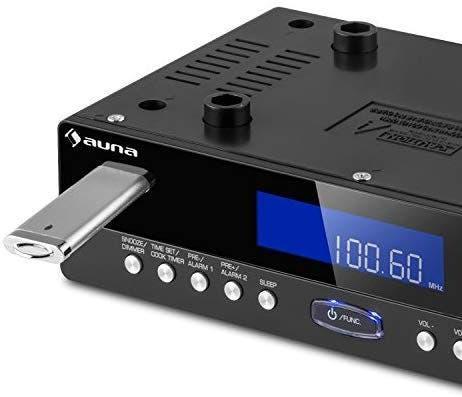 Radio auna kr-100 bk,totalmente nueva