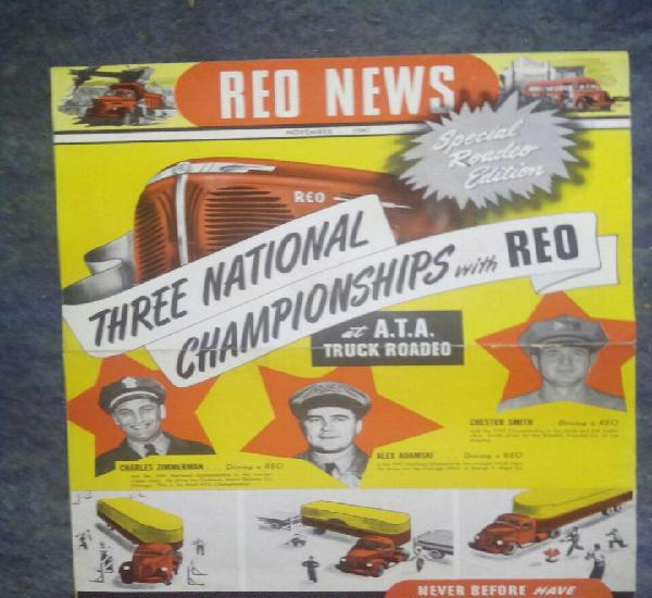 Red news / november 1947 / three national championhips /